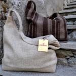 borsa in pura lana valdostana con cerniera e tasca interna