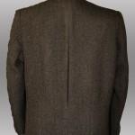 Retro giacca da uomo in pura lana marrone naturale